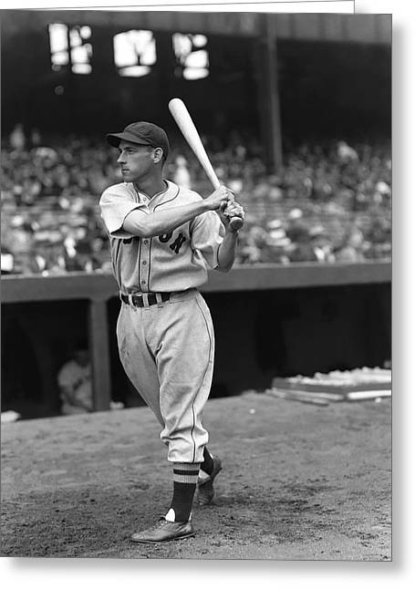 Baseball Bat Greeting Cards - Donald E. Eric McNair Greeting Card by Retro Images Archive