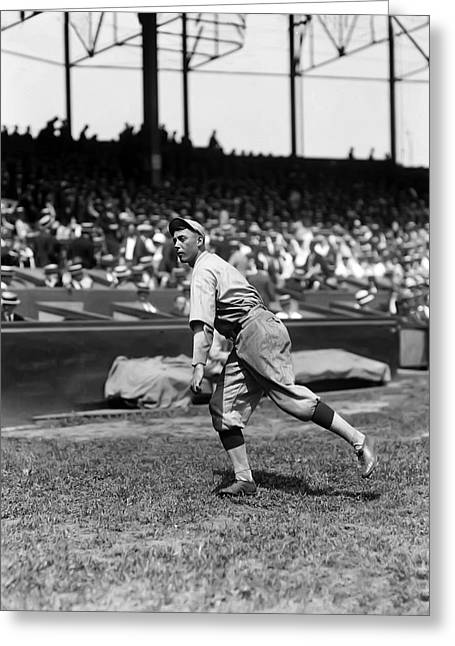 Baseball Game Greeting Cards - Edd Roush Greeting Card by Retro Images Archive