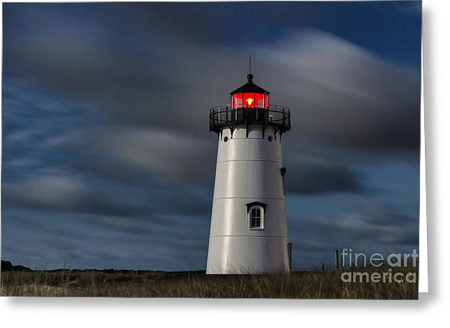 Risk Security Greeting Cards - Edgartown Lighthouse Greeting Card by John Greim