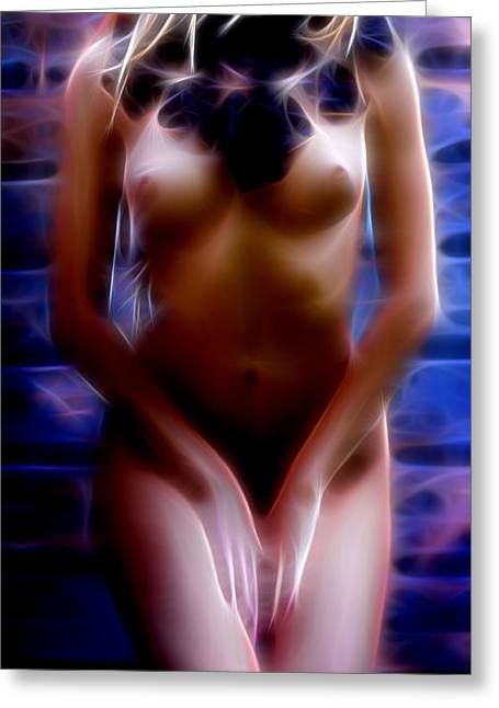 Supergirl Digital Art Greeting Cards - Erotic Women Art Greeting Card by Michael Vicin