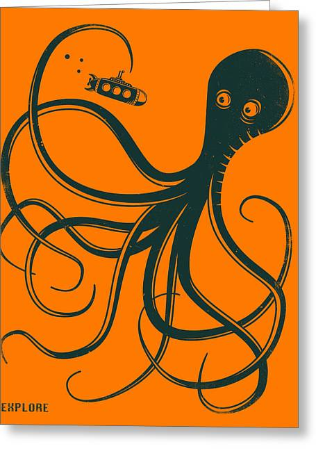 Octopus Greeting Cards - Explore Greeting Card by Jazzberry Blue