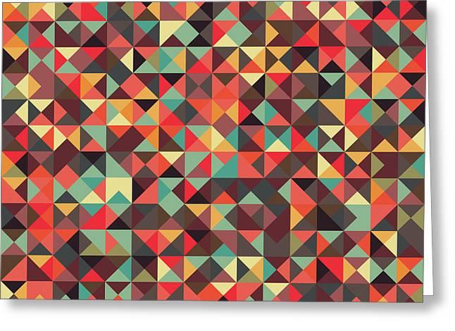 Geometric Artwork Greeting Cards - Geometric Art Greeting Card by Mike Taylor