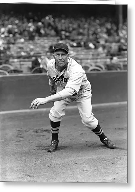 Boston Red Sox Greeting Cards - George E. Rube Walberg Greeting Card by Retro Images Archive