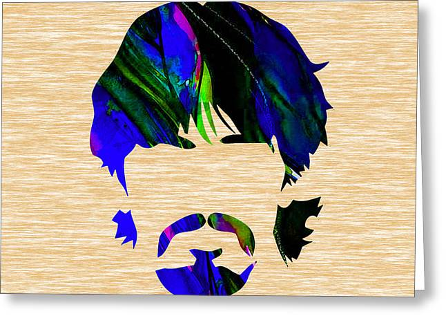 George Harrison Mixed Media Greeting Cards - George Harrison Collection Greeting Card by Marvin Blaine