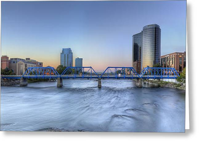 Grand River Greeting Cards - Grand Rapids  Greeting Card by Twenty Two North Photography