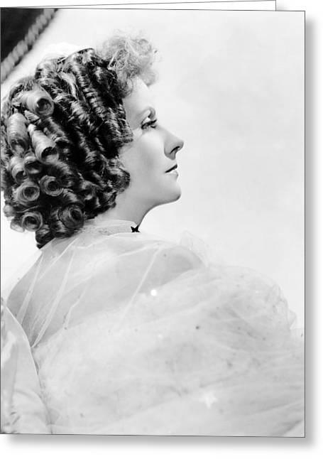 Garbo Greeting Cards - Greta Garbo Greeting Card by Silver Screen