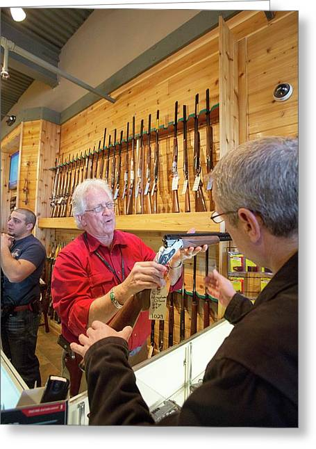 Gun Store Greeting Card by Jim West