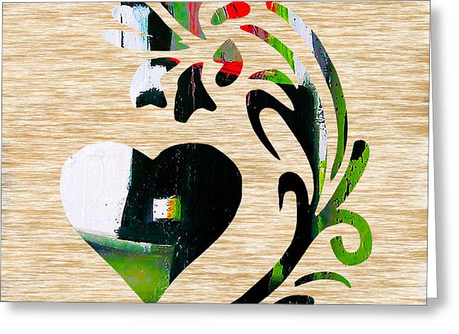 Hearts Greeting Cards - Heart and Flowers Greeting Card by Marvin Blaine