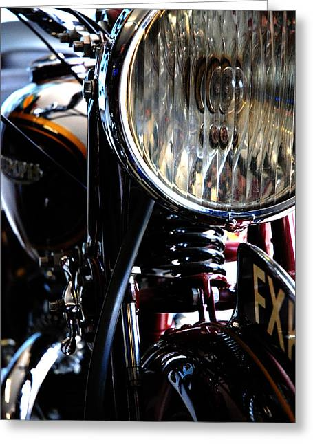 Headlight Greeting Cards - 8 Inch Lamp Greeting Card by Mark Rogan