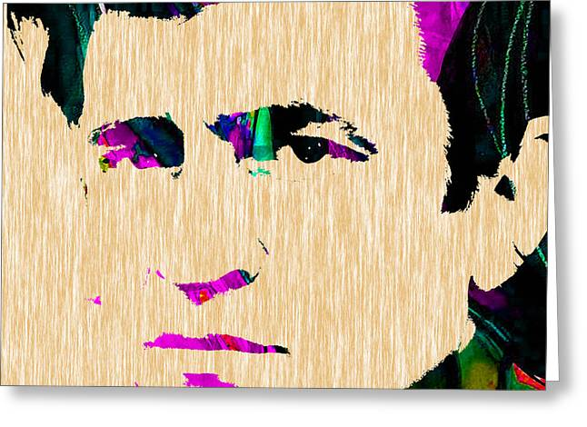 Johnny Greeting Cards - Johnny Cash Collection Greeting Card by Marvin Blaine