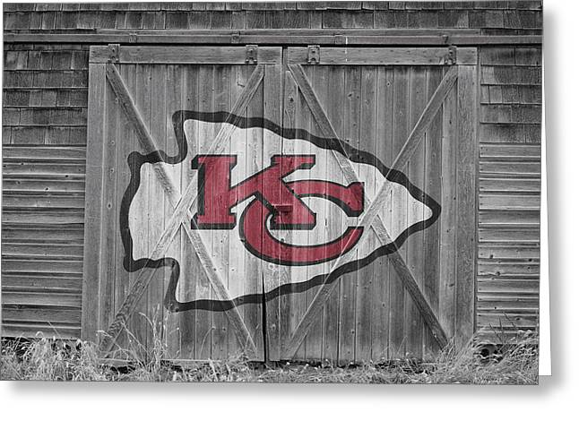 Offense Greeting Cards - Kansas City Chiefs Greeting Card by Joe Hamilton