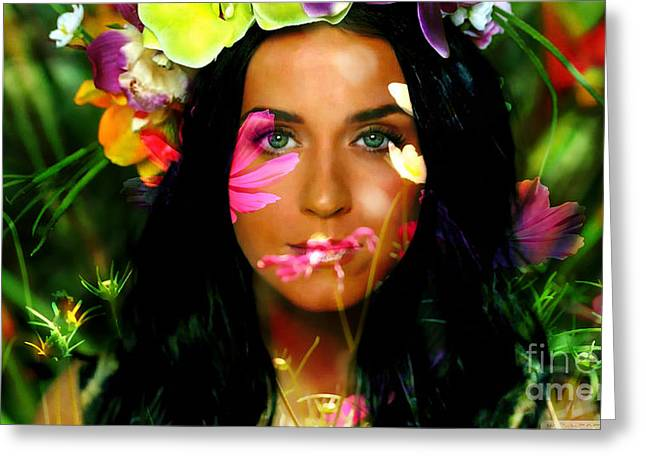 Katy Perry Greeting Cards - Katy Perry Greeting Card by Marvin Blaine