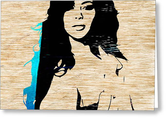 At Arrivals Greeting Cards - Kim Kardashian Greeting Card by Marvin Blaine