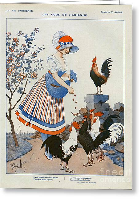 Nineteen-tens Greeting Cards - La Vie Parisienne  1916 1910s France Cc Greeting Card by The Advertising Archives