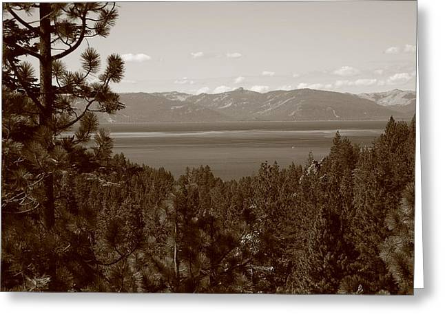 Lake Tahoe Greeting Card by Frank Romeo