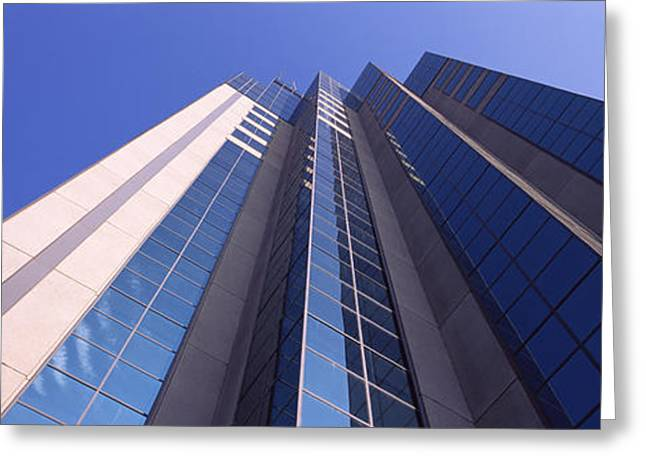 Low Angle View Of An Office Building Greeting Card by Panoramic Images