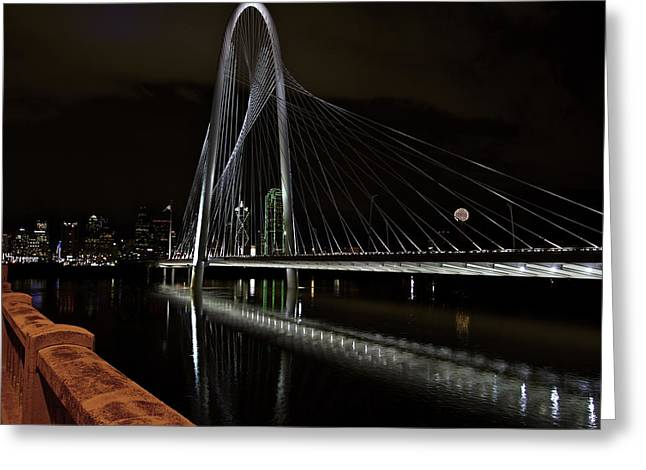 River Flooding Greeting Cards - Margaret Hunt Hill Bridge Greeting Card by John Babis