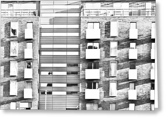 Ledge Photographs Greeting Cards - Modern apartments Greeting Card by Tom Gowanlock