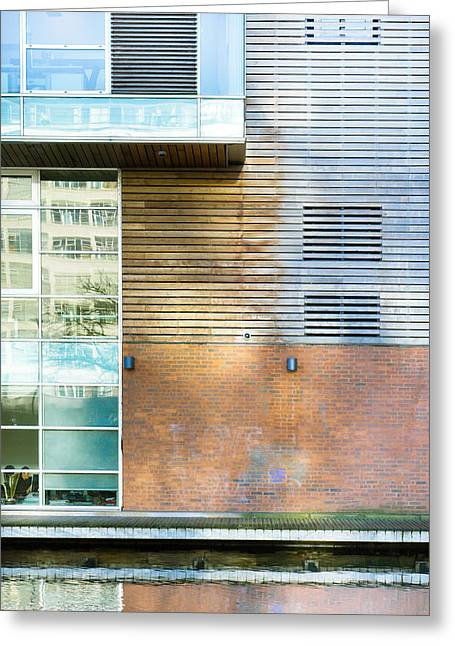 Ledge Photographs Greeting Cards - Modern building Greeting Card by Tom Gowanlock