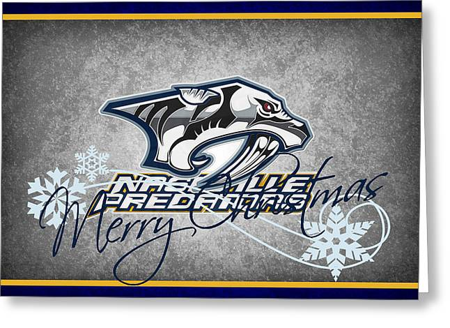 Nashville Greeting Cards - Nashville Predators Greeting Card by Joe Hamilton