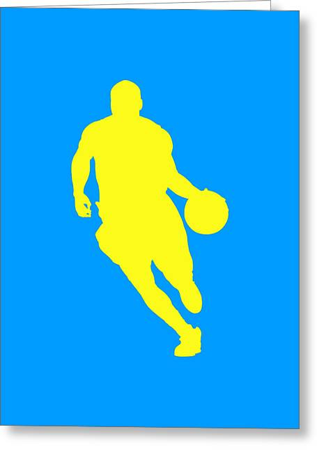 Basketball Team Greeting Cards - Nba Shadow Player Greeting Card by Joe Hamilton