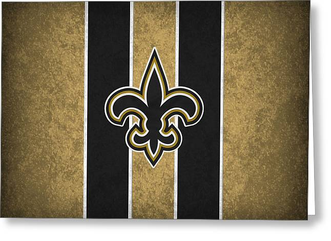 Nfl Greeting Cards - New Orleans Saints Greeting Card by Joe Hamilton