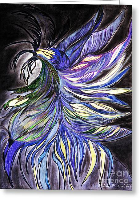Glowing Pastels Greeting Cards - Night Fly Greeting Card by Melinda Firestone-White