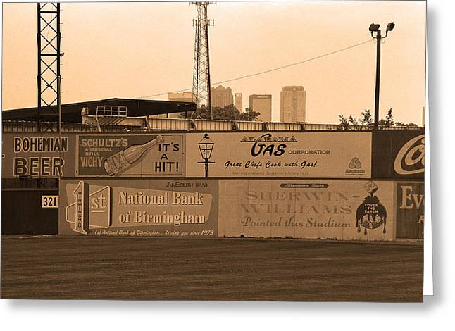 Negro Leagues Greeting Cards - Old Time Baseball Field Greeting Card by Frank Romeo