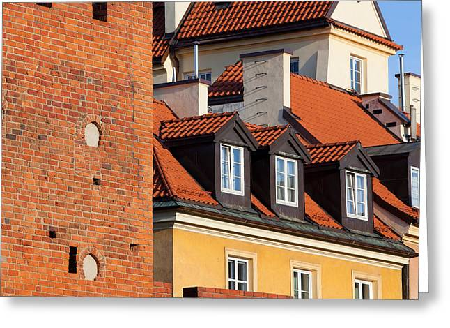 Polish Old Town Greeting Cards - Old Town in Warsaw Greeting Card by Artur Bogacki