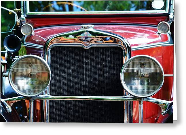 Weels Greeting Cards - Oldtimer Greeting Card by Werner Lehmann