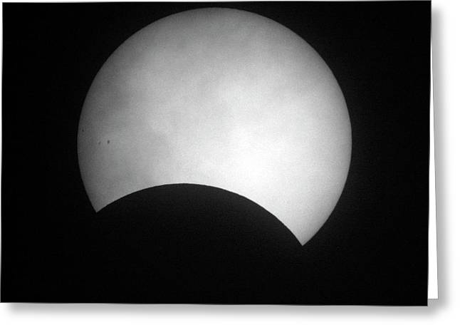 Partial Solar Eclipse Greeting Card by Detlev Van Ravenswaay