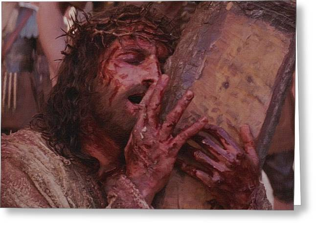 Catholic Art Greeting Cards - Passion of the Christ Greeting Card by Victor Gladkiy
