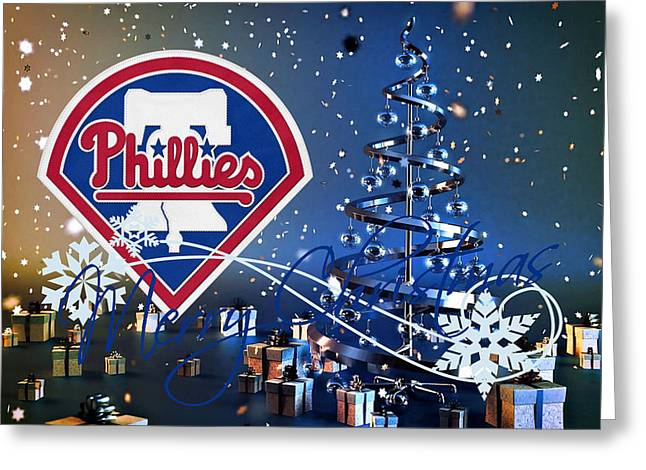 Philadelphia Greeting Cards - Philadelphia Phillies Greeting Card by Joe Hamilton