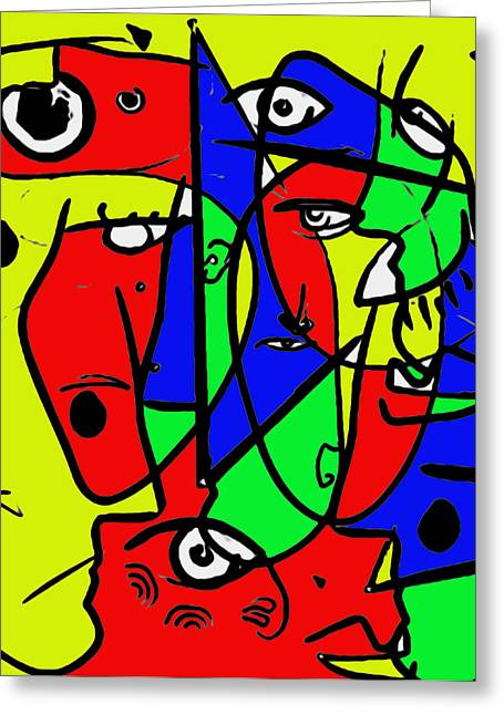 Pablo Picasso Mixed Media Greeting Cards - Putsches Casso Greeting Card by Sir Josef  Putsche