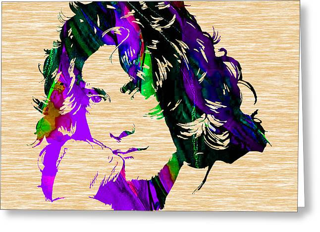 Led Zeppelin Greeting Cards - Robert Plant Collection Greeting Card by Marvin Blaine