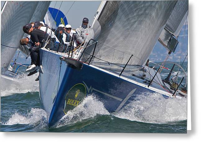 Seacape Greeting Cards - Rolex Regatta Greeting Card by Steven Lapkin