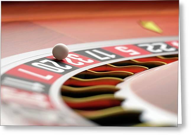 Roulette Wheel Greeting Card by Ktsdesign