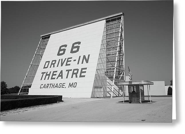 Recently Sold -  - Outdoor Theater Greeting Cards - Route 66 - Drive-In Theatre Greeting Card by Frank Romeo