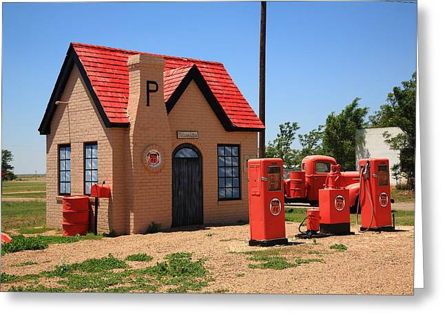 West Tx Greeting Cards - Route 66 - Phillips 66 Gas Station Greeting Card by Frank Romeo