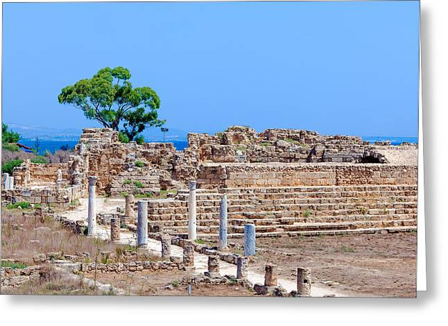 Greek Sculpture Greeting Cards - Ruins of Salamis near Famagusta Greeting Card by Rostislav Ageev