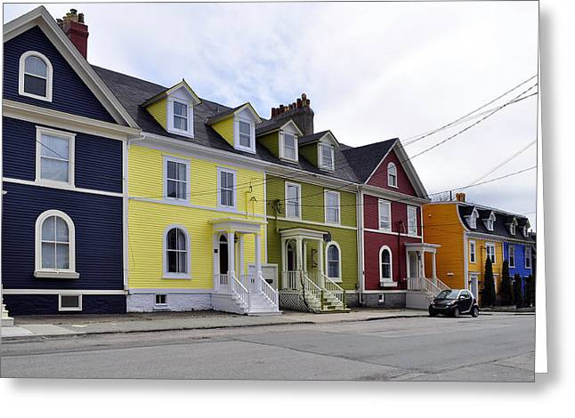 Parked Cars Greeting Cards - Saint Johns. Newfoundland. Greeting Card by Fernando Barozza