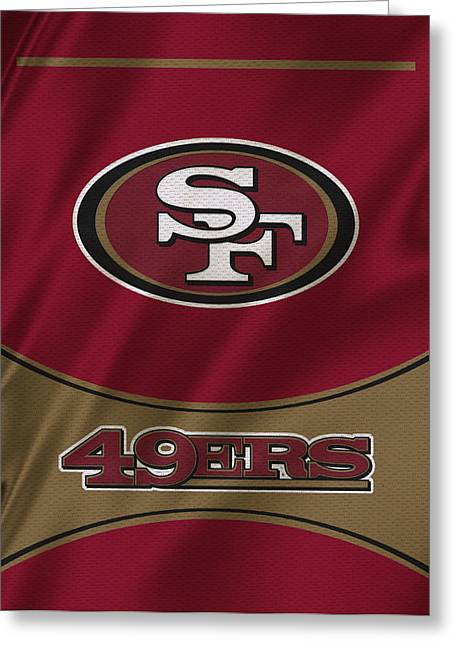 Sports Uniform Greeting Cards - San Francisco 49ers Uniform Greeting Card by Joe Hamilton