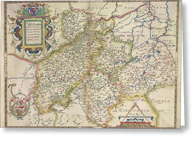 Saxton's Atlas Of England And Wales Greeting Card by British Library