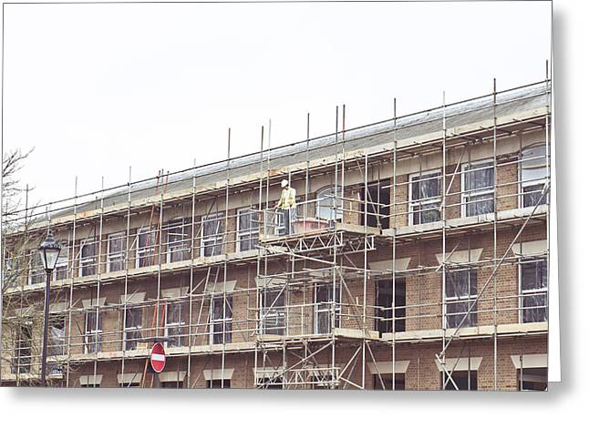 Working Conditions Greeting Cards - Scaffolding Greeting Card by Tom Gowanlock