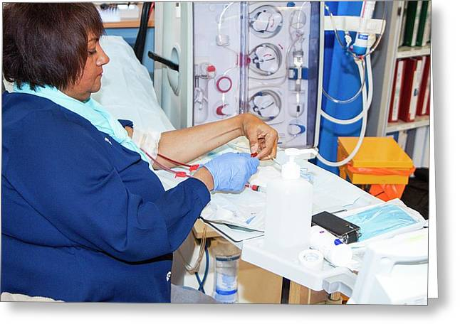 Shared Care Dialysis Unit Greeting Card by Life In View