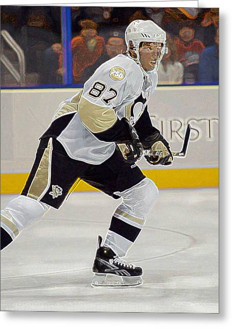 Sidney Crosby Greeting Cards - Sidney Crosby Greeting Card by Don Olea