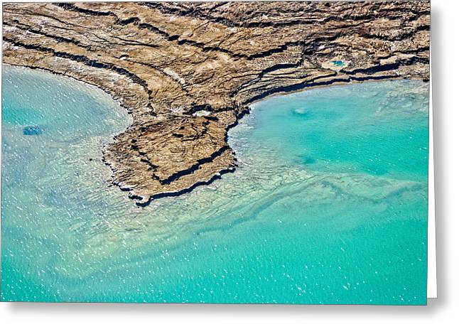 Doline Greeting Cards - Sinkholes In Northern Dead Sea Area Greeting Card by Ofir Ben Tov