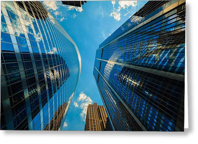 Modern Photographs Greeting Cards - Skyscrapers Greeting Card by Raul Rodriguez