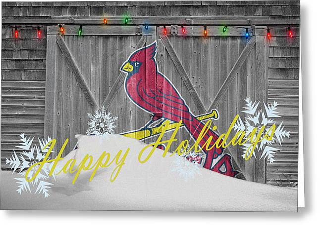 Baseball Field Greeting Cards - St Louis Cardinals Greeting Card by Joe Hamilton