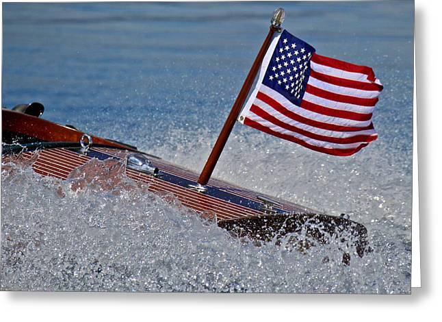 Mahogany Red Greeting Cards - Stars and Stripes Greeting Card by Steven Lapkin